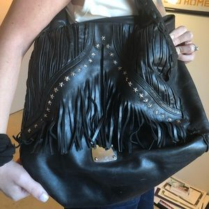 Rare Black leather jimmy Choo bag